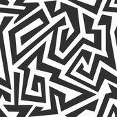 Monochroom labyrint naadloze patroon — Stockvector