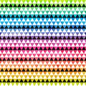 Rainbow colored triangle seamless pattern — Stock Vector