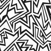 Monochrome Stammes-nahtlose Muster — Stockvektor