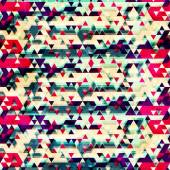 Vintage triangle seamless pattern — Stock Vector