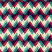 Illusion zigzag seamless pattern — Stock Vector