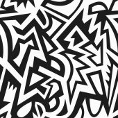 Monochrome tribal seamless pattern — Stock Vector