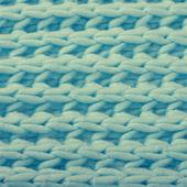 Blaue wolle gestrickt textur — Stockfoto