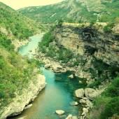 Tara river canyon in Montenegro mountains — Stock Photo