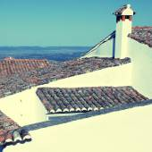 Old tile roofs(Portugal) — Stock Photo