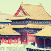 Forbidden City , Beijing, China, instagram effect — Stock Photo