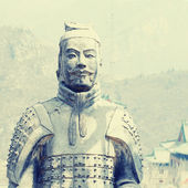 Terracotta soldiers on Great Wall, China. — Stock Photo