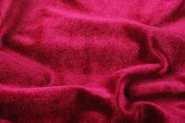 Softness red folded velvet background — Stock Photo