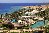 Tropical luxury resort hotel, Egypt. — Stock Photo