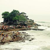 Tanah Lot, Bali, Indonesia. — Stock Photo