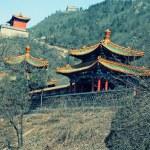 Chinese pagoda on hills near Great Wall, China — Stock Photo #54214147