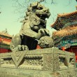 Bronze lion in Lama Temple (Beijing, China) — Stock Photo #54214161