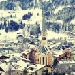 Winter village in the Austrian Alps — Stock Photo #54841189