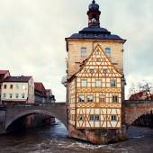The Old Town Hall in Bamberg(Germany) in winter — Stock Photo