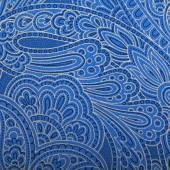Vintage blue paisley wallpaper — Foto de Stock