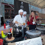 Street Food Festival in Kyiv, Ukraine. — Stock Photo #55273255
