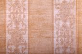 Vintage golden wallpaper background with beige stripes pattern — Stock Photo