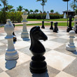 Oversize outdoor chess board — Stock Photo #55881363