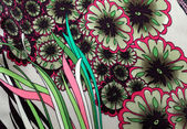 Textile pattern with floral ornament — Stock Photo
