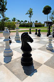 Oversize outdoor chess board — Stock Photo