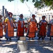 Постер, плакат: African tribal singers on the Waterfront in Capetown South Afri