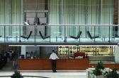 Contemporary hotel bar and lobby — Stock Photo