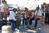 African street musicians on the Waterfront in Capetown, South Africa — Stock Photo