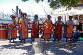 African tribal singers on the Waterfront in Capetown, South Afri — Stock Photo
