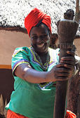 Smiling african woman, South Africa — Stock Photo
