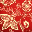 Red vintage wallpaper with white vignette victorian pattern — Stock Photo #56379501