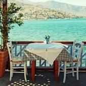Beautiful outdoor restaurant (Crete, Greece) — Stock Photo