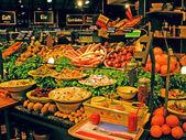 Buffé färska grönsaker salladsbar — Stockfoto