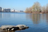 Dnieper river in Kiev — Stock Photo
