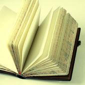 Vintage open blank notebook — Stockfoto