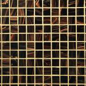 Mix brown shiny glass mosaic — Stock Photo