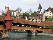 Мельница мост, Люцерн, Швейцария — Стоковое фото