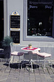 Small street cafe, Switzerland — Stock Photo