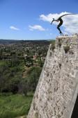 Sculpture on ramparts of Saint-Paul-de-Vence , Provence, France — Stock Photo