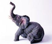 Grey figurine an elephant — Stock Photo
