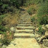 Old stone steps — Stock Photo