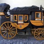 Swiss historic carriage  in Zurich, Switzerland — Stock Photo #63166287