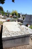 Marc Chagall tomb at the old cemetery in Saint Paul de Vence — Stock Photo