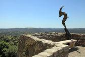 Sculpture on ramparts of Saint-Paul-de-Vence, Provence, France. — Stock Photo