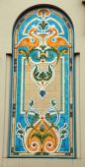 Art Nouveau design majolica tile — Stock Photo