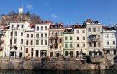 Old town of Ljubljana , Slovenia — Stock Photo
