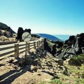 Road in the mountains Serra da Estrela, Portugal — Stock Photo