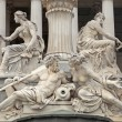 Pallas Athena Fountain in front of the Austrian Parliament in V — Stock Photo #67646789