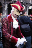 Masked person in costume on Carnival in Venice — Stock Photo