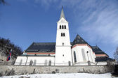 Saint Martin Church at Lake Bled, Slovenia. — Stock Photo