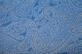 Vintage blue wallpaper with paisley pattern — Stock Photo